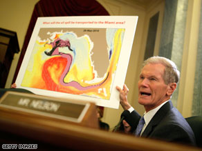 Sen. Bill Nelson sent a letter to President Obama asking for the Department of Defense to become more involved in the Gulf oil spill.