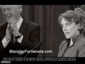 Sen. Blanche Lincoln&#039;s new campaign ad features former President Bill Clinton.