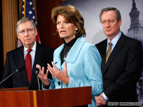 Alaska Sen. Lisa Murkowski vowed Tuesday to strip the Environmental Protection Agency of its authority to impose new limits on the emission of greenhouse gases.
