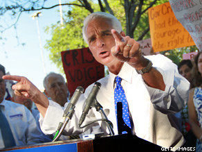  A new poll indicates  Gov. Charlie Crist is ahead in the battle for Florida&#039;s open Senate seat.