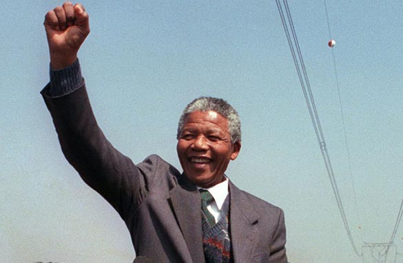 Nelson Mandela pictured in 1990, four years before becoming South Africa's first black president/Getty Images.