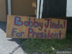 A 'Jindal for President' on Louisiana's coast.