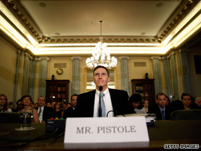 FBI Deputy Director John Pistole during his confirmation hearing Thursday to head the Transportation Security Administration.