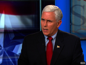 'I believe with all my heart that Republicans need to continue to fight for the sanctity of life and the sanctity of marriage with everything we've got in 2010 and in 2012,' Rep. Pence said Sunday.