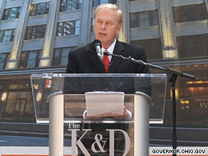 Ohio Gov. Ted Strickland was endorsed Monday by the National Rifle Association.