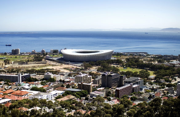 Greenpoint Stadium in Cape Town. Few South Africans dared dream 20 years ago that they might host the World Cup.  AFP/Getty