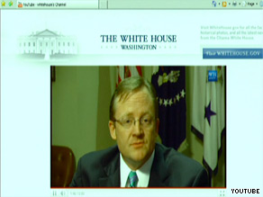 Robert Gibbs responded to questions via YouTube Tuesday following Obama&#039;s Oval Office address.