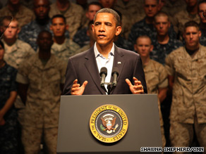 President Barack Obama said Tuesday that the U.S. military is on track to complete its roughly seven-year combat mission in Iraq.