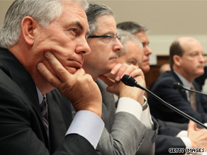 Executives from five of the world's largest oil companies appeared before the House Energy and Enviornment subcommittee Tuesday.