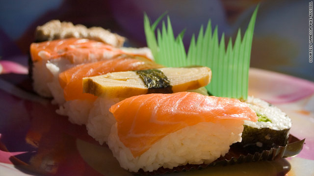 Culinary Curiosities: That plastic leaf in sushi