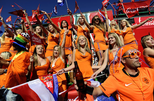 The story of the women in orange has made headlines worldwide. AFP/Getty Images