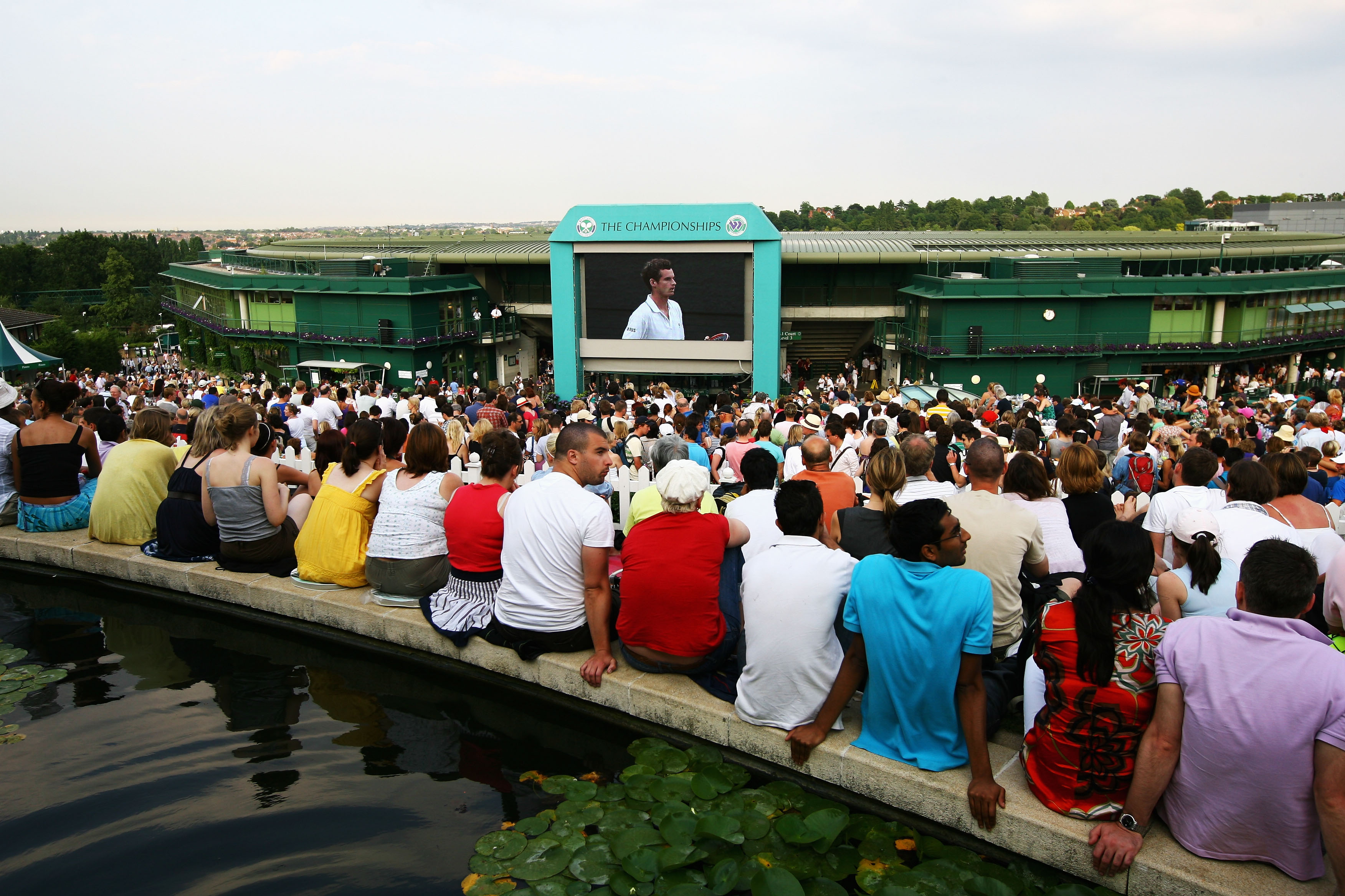 Wimbledon's big screen will not show any football during the tournament.