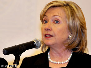 Hillary Clinton pledged to end violence and discrimination against gays and lesbians Tuesday.