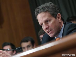 Treasury Secretary Tim Geithner defended the government&#039;s bailout of the financial system on Tuesday.