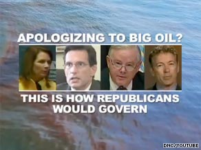 The DNC on Tuesday released a second ad that highlights Rep. Joe Barton's controversial apology to BP.