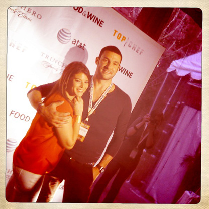 Gail Simmons and Sam Talbot