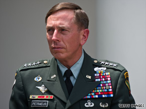 Gen. David Petraeus told CNN on Thursday that he supports President Barack Obama's July 2011 deadline to start withdrawing U.S. troops from Afghanistan.