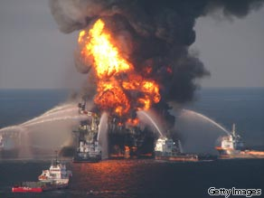 An explosion destroyed the Deepwater Horizon drilling platform on April 20, 2010.