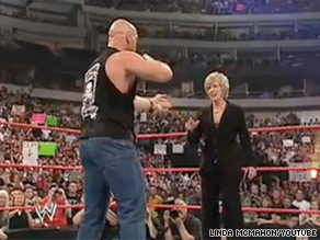 Linda McMahon is out with a new ad featuring clips from World Wrestling Entertainment.