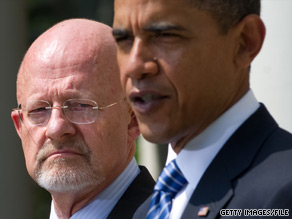 On June 5, President Obama announced retired Gen. James Clapper (back) would be his nominee for director of national intelligence.