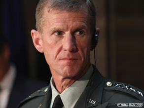 President Obama removed Gen. Stanley McChrystal from his command.