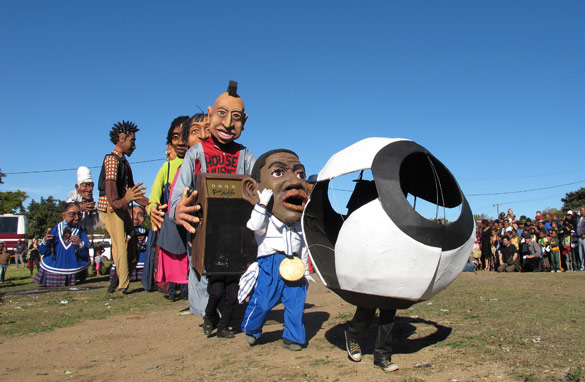 The Giant Match has been created through a collective of French and South African artists (CNN)