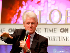 'I never had any money until I got out of the White House, you know, but I've done reasonably well since then,' Clinton said during the Fortune Time CNN Global Forum in Cape Town, South Africa.