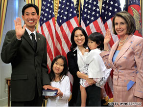 Rep. Charles Djou was sworn in, in late May.  The Republican lawmaker says that he bought an iPad in order to help get up to speed quickly as a new member of Congress.