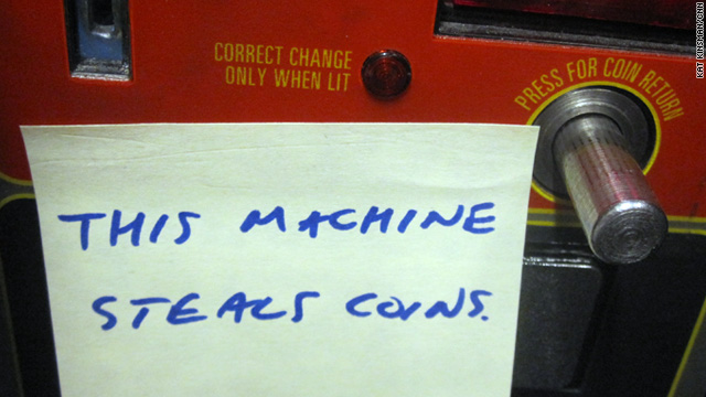Rage against the vending machine