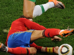 Nike&#039;s colorful new boots have been conspicuous at the World Cup in  South Africa. (AFP/Getty)