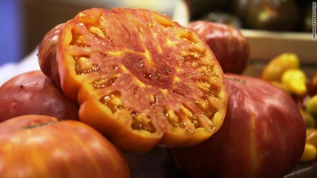 Lick the screen – heirloom tomatoes