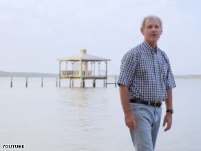Bradley Byrne&#039;s campaign ad criticizes both President Obama and BP.
