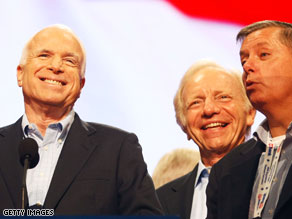 Sens. McCain, Lieberman and Graham are in Iraq.