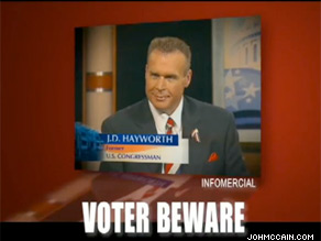Sen. John McCain's re-election campaign released two TV ads Monday.