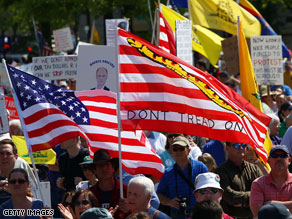 A new poll indicates that 61 percent of Tea Party movement supporters say the national debt is an extremely serious threat to the country.