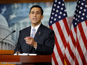 Rep. Darrell Issa said Thursday that RNC Chairman Michael Steele &#039;is not my leader.&#039;
