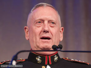 Marine Corps Gen. James Mattis has been chosen as the new head of U.S. Central Command.
