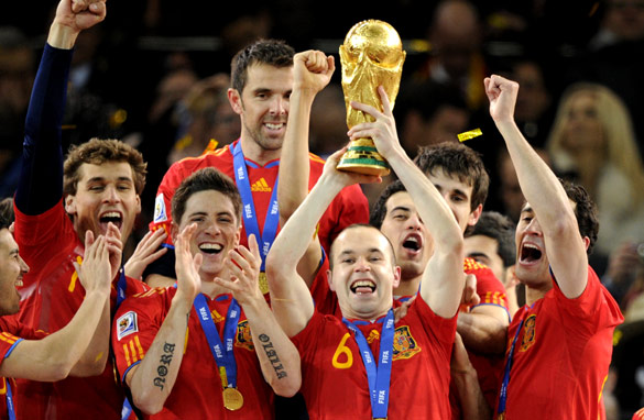 Spain's players lifted the World Cup for the first time in the European nation's history. (AFP/Getty Images)