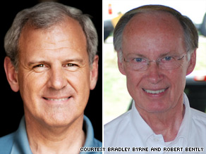 Bradley Byrne (left), a former state senator and former chancellor of Alabama's community colleges, faces off against state Rep. Robert Bently (right) in Tuesday's runoff election.