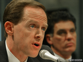 Pennsylvania Republican Pat Toomey raised $3.1 million in the 2nd quarter.