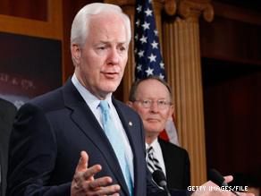 Sen. John Cornyn says his party is firmly behind O'Donnell.
