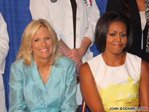Michelle Obama and Jill Biden attended at even Wednesday focused on preventative care guidelines.