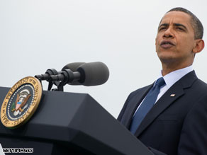 Obama publicly takes on congressman who opposed stimulus.
