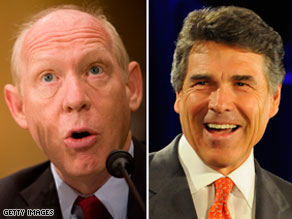 A new poll indicates that Gov. Rick Perry's lead over Democrat Bill White is shrinking.