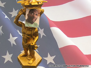 A minor league baseball team says it will pass out Alvin Greene statues at an upcoming game.