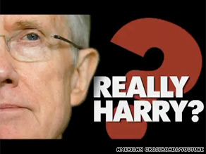 The conservative organization American Crossroads is out Friday with a new ad criticizing Harry Reid.
