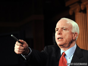 Sen. John McCain will square off in a debate against his opponents Friday night.