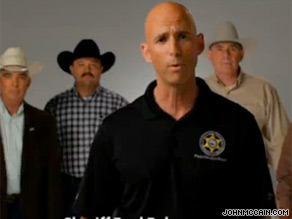 Arizona Sheriff Paul Babeu defends McCain in a new TV ad.