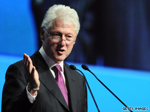 Former President Bill Clinton urged fellow nations Monday not to give up on funding for AIDS programs.
