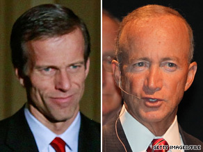 South Dakota Sen. John Thune (left) and Indiana Gov. Mitch Daniels (right) will each soon be traveling to key battleground states.